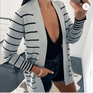 EUC Express Striped Cardigan